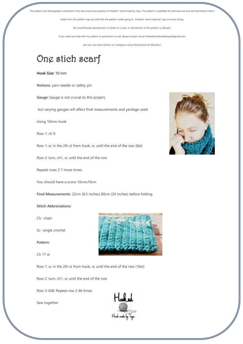 one stich scarf-1